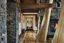 Pure Interieurs / Interieur met pure, natuurlijke materialen. Hout, beton, groen