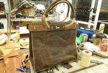 larou workshop / leather bag with wood
