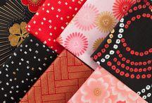 """Satsuki 1-4 by Robert Kaufman / Robert Kaufman Fabrics - Four Collection """"Satsuki"""" Asian Inspired Cotton Quilting Fabrics"""