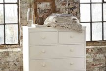 Painted wooden furniture / Our beds and furniture can be made in a beautiful white and cream painted finish, which can bring a light and airy, soft romantic or modern chic feel to any home decor.