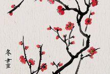 Chinese bloesem schilderen