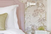 Pink/Blush Bedrooms / Bedrooms in romantic shades of pink, blush and apricot.