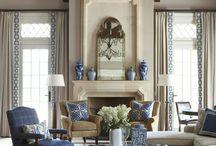 Navy & Neutral Living Room