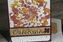 "Stamp:Definitely Dahlia / Handmade cards using Stampin' Up's ""Definitely Dahlia"" stamp."