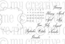 Whimsical Calendar Days / Inspiration for this stamp set!