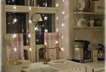 Christmas lights living room