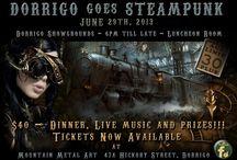 Dorrigo goes Steampunk / The steampunk movement zooming across the world didn't miss Dorrigo.  On July 12 -  2014 , Mountain Metal Art will host its third Steampunk event. Always a fun time!!