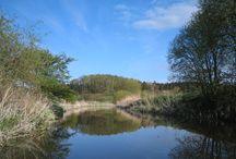 Trave / Die Trave erfreut den Wasserwanderer zunächst als Kleinfluss durch einsame Landschaften um Bad Segeberg, dann als Wiesenfluss durch das breite, unbesiedelte Travetal und endlich als Wasserweg zwischen Bad Oldesloe und der Hansestadt Lübeck.
