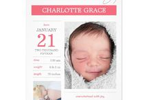Modern Baby Announcement Cards & Invitations