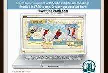 Digital Scrapbooking / Online or Digital Scrapbooking Inspiration