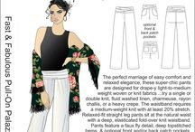 Inspiration: Fast & Fabulous Pull-On Palazzo Pants / ...sometimes you just want an easy-peasy pull-on pant...this is it!