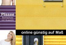Plissee Rollo  / Plissee Rollo auch als Faltstore bezeichnet sind die perfekte Dekoration für Fenster und Tür.  Alles auf Maß direkt vom Jalousie Hersteller. Online im Shop auf Myfalstores.de oder direkt in der Ausstellung in Hessen.