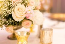 Lemon Drops Weddings & Events / The Vinoy / Summer wedding at The Vinoy in St. Petersburg, FL.  Blush, white and ivory flowers and gold wedding decor.  Photo Credit Tiffany McClure Photography.