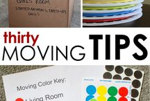 Organizing a Move / How to organize, pack & move belongings to a new home.  Best practices for a smooth transition when selling a home and moving into a new home.