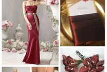 Burgundy and gold theme
