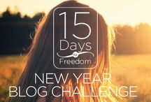 15 Day Blog Challenge / The 15 Days To Freedom Blog Challenge is designed to get you into the habit of daily blogging while creating more freedom in your life and business.