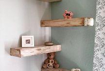 ložnice dřevo srub