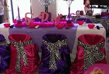 Pink, Purple & Zebra Spa Party for Girls / Spa Party for Girls birthday idea.