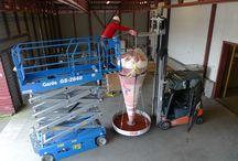 Worlds largest ice-cream cone / Created worlds largest ice-cream cone, without internal structure