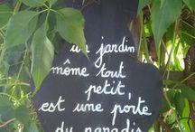 proverbes pour les jardins
