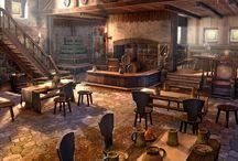 fantasiaproppejaaaaaarghh / Olden fantasy 3D RPG pub prop references
