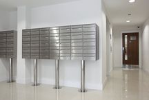 Kingston Riverside, London, 2014 / When one of our Architectural Ironmongers asked our assistance for an executive apartment development on the Thames River Bank in London. We immediately suggested a Satin Stainless Steel solution, which I think you'll agree finished off the simple yet stunning lobby area. Mailboxes : Standard-series Model : 2030-16