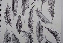 Feather tatts