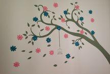 Pintura de quarto / Quarto da Manu tia Deia que pintou