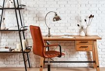 Work at the Office from Home / Design the perfect office or study, inspiration help from Woods Furniture.