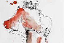 Akwarela - fashion illustration / Prace artysty