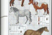 cross stitch horse