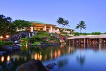 Grand Hyatt Kauai Resort & Spa, Hawaii / The Grand Hyatt Kauai resort seems less like a single spot than a tropical isle created just for human pleasure. Arrayed on 50 naturally contoured, lavishly planted acres overlooking the blue Pacific, the 602-room resort is completely self-contained. Guests lounge in swimwear during the day and dress in resort wear - often purchased in the resort's shops - in the evenings.