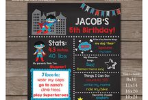Chalkboard Posters / Chalkboard Posters for birthday or baby shower.