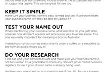 Business name tips