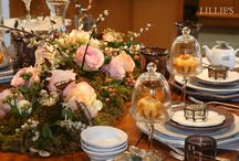 cool table centerpieces / by lillie's flowers for weddings and celebrations