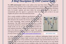 A Brief Description Of AMF Control Panel / The AMF control panel, which is also called as the Auto Main Failure Panel is generally connected to the generator set to control its function. It consist miscellaneous equipment such as a battery, charger, electric circuit boards, terminal blocks or many other necessary tools. Its breaker capacity and wires define the actual power rating of the panel. It automatically gives the signal to a generator when the power goes so that it run and supplies the power to the main electricity board.