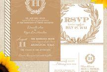 Wedding invitations and fonts