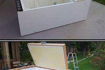 old fridge into ice chest