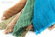 Linen scarves and shawls / Ligtweight linen scarf or shawl is versatile accessory that perfect for all year round. Add an elegant accent to your daily outfit.