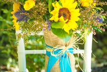 Sunflower Styled Wedding Session / Country, rustic wedding/day after session inspired by sunflowers, cowboy boots, lace, burlap, etc.  I would love to see navy blue as an accent color.  Maybe bridal party in navy dresses/boys in tan/khaki pants with suspenders.  Will probably shoot at LU Equestrian Center at the hay barn for sure.