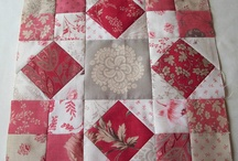 quilts - taupe,grey