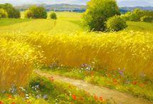 glooiend landschap