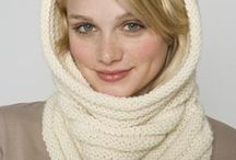 Cowls / Cowls, or neck warmers. Wear these in lieu of a scarf, they are less bulky if you are wearing a jacket!