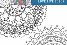 Kolorowanki i mandale / Colouring pages, mandalas