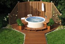 garden with jacuzzi