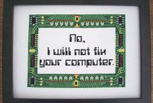 cross stitch patterns for femme nerds