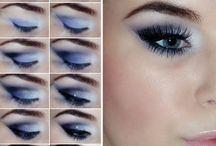 Eyes make up / trucco, occhi, make up, blu, verde, marrone, dorato, argento, nero