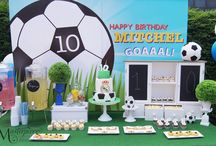Soccer Party Sweet Table/Dessert Table / Sweet Table/Dessert Table for a little boy who's a big Real Madrid fan.