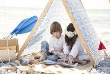 Casitas refugio para niños / Tent for Children / Casitas hechas a mano en tela de algodón y madera de pino para niños.  Handmade tents. Cotton & pine wood. www.vamosdepicnic.com