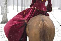 Side Saddle / Side Saddle Equestriennes and riding habits